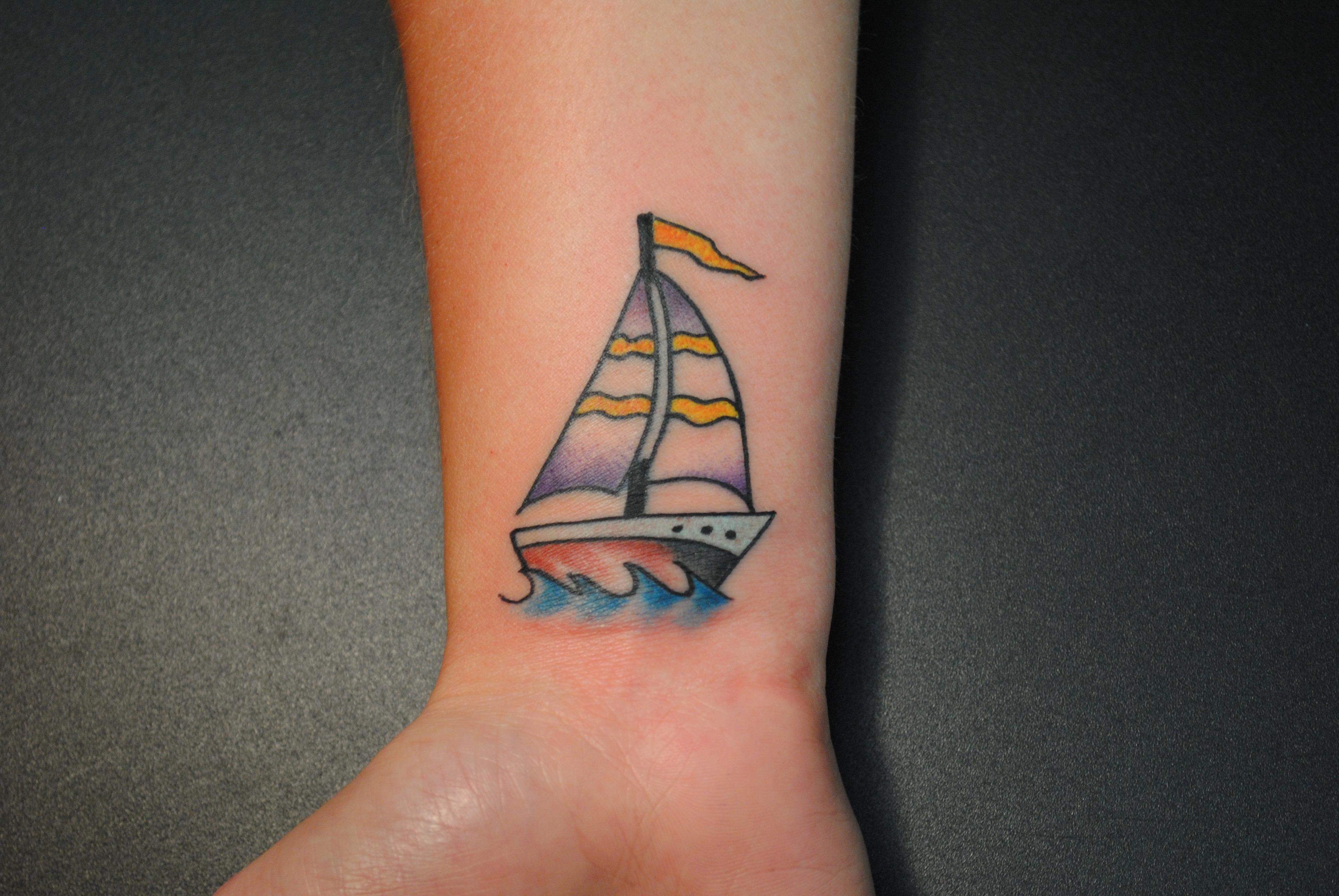 Ship Tattoo Small: Knock Knock The Devil